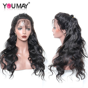 13x6 Lace Front Human Hair Wigs 250% Density Brazilian Body Wave Lace Front Wig Pre Plucked Non-remy Hair Bleached Knot You May - LIZ'B'HAIR