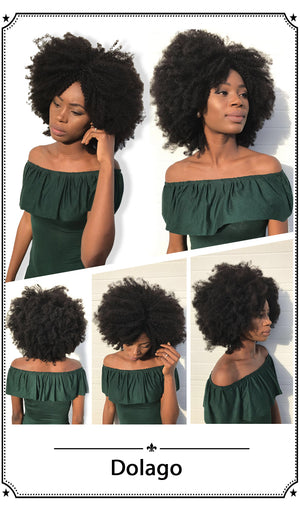 Mongolian Afro Kinky Curly Hair Weave 4B 4C 100% Natural Virgin Human Hair Bundles Extension Rosa Queen Hair Products - LIZ'B'HAIR