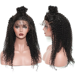 Kinky Curly Wig Pre Plucked Full Lace Human Hair Wigs With Baby Hair Brazilian Glueless Full Lace Wig For Women SunnyQueen Remy - LIZ'B'HAIR