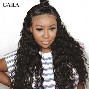 Lace Front Human Hair Wigs Deep Wave 360 Lace Frontal Wig Pre Plucked With Baby Hair 180% Density Remy Wigs For Black CARA - LIZ'B'HAIR