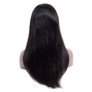 Lace Front Human Hair Wigs Straight Pre Plucked with Hairline Malaysian Remy Human hair - LIZ'B'HAIR