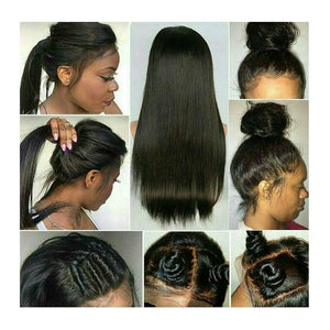 360 Lace Frontal With Bundle Straight Malaysian Remy Human Hair Hair Pre Plucked - LIZ'B'HAIR