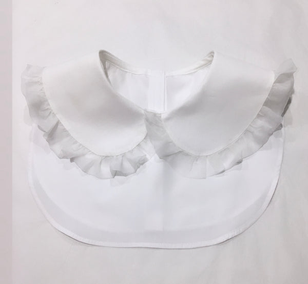 The New 'Fleur' oversized Peter Pan collar with frill (women's)
