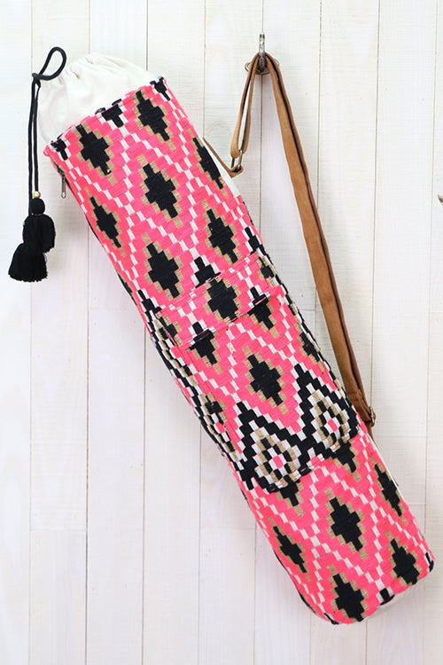 Tulum Boho Chic Yoga Mat Bag