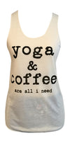 Yoga and Coffee Graphic Tank Top