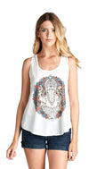 Ganesha Graphic Yoga Tank Top