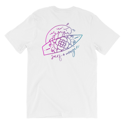 Surf and magic unisex t-shirt