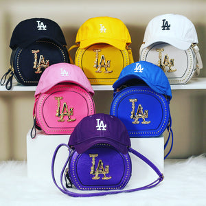 LA purse and hat set