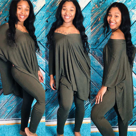 Relaxed Dark olive set