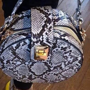 Snakeskin mini purse