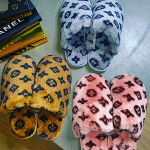 Inspired LV Slippers