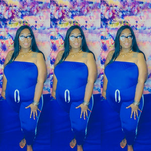 Sporty royal Blue Jumpsuit
