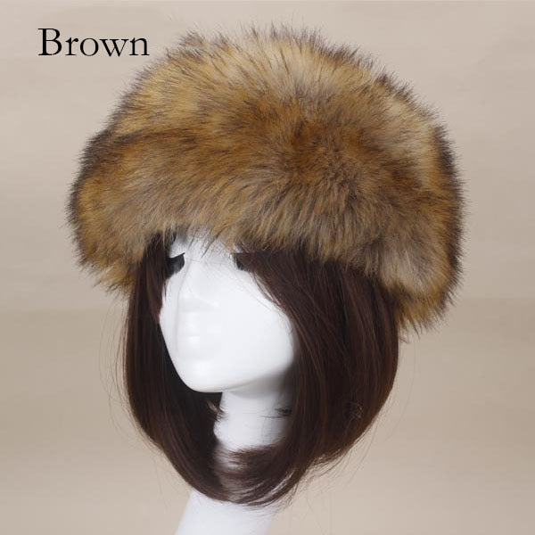 Winter Thick Furry Hairband Fluffy Russian Faux Fur Women Headband