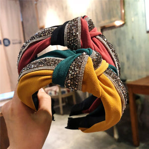 Haimeikang Sequin Patchwork Headband