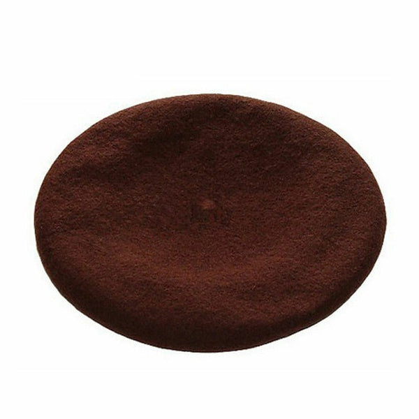 Winter Warm faux Wool Beret Women Girls French Artist Beanie