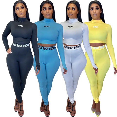 Women Tracksuit Fashion Casual Two Piece Set
