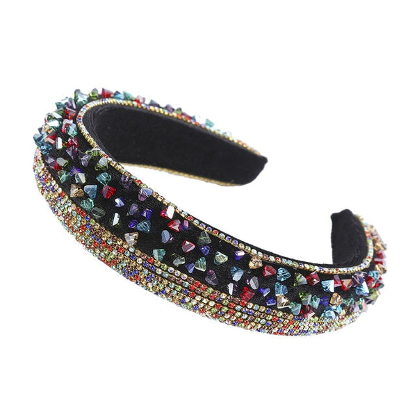 MOLANS Rainbow Bejeweled Padded Headbands