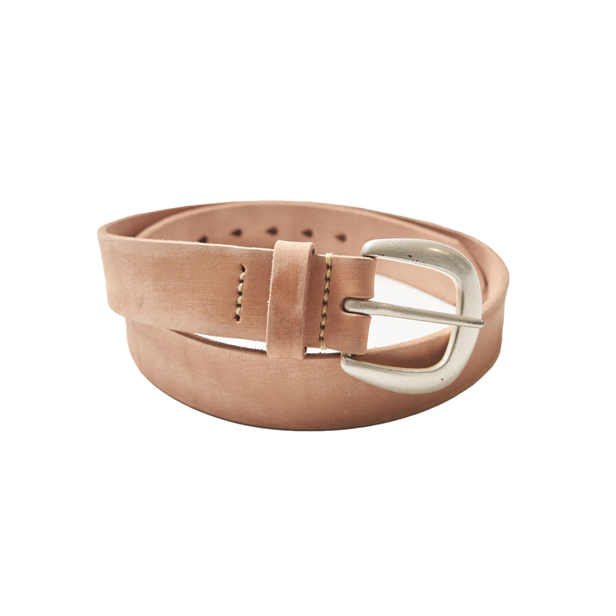 Wild Leather Belt -  Natural