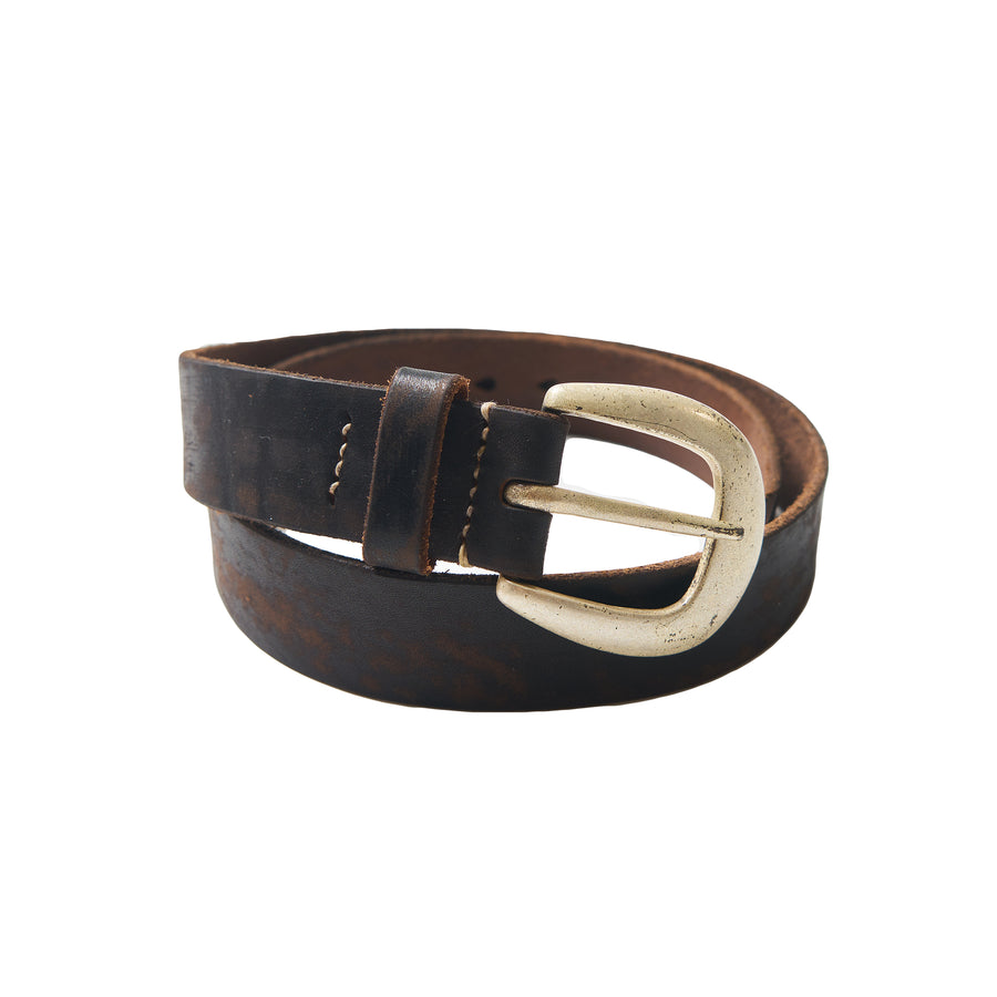 Wild Leather Belt -  Black