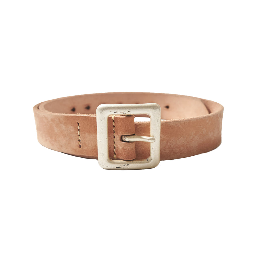 Wild Leather Garrison Belt - Natural