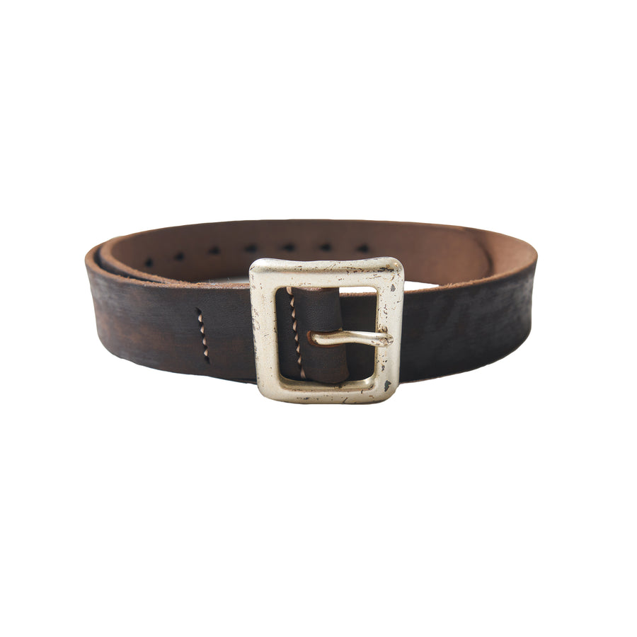 Wild Leather Garrison Belt - Black