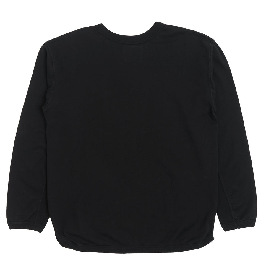 5222L-20 - Flat Seam Heavyweight Long Sleeve T-Shirt - Black