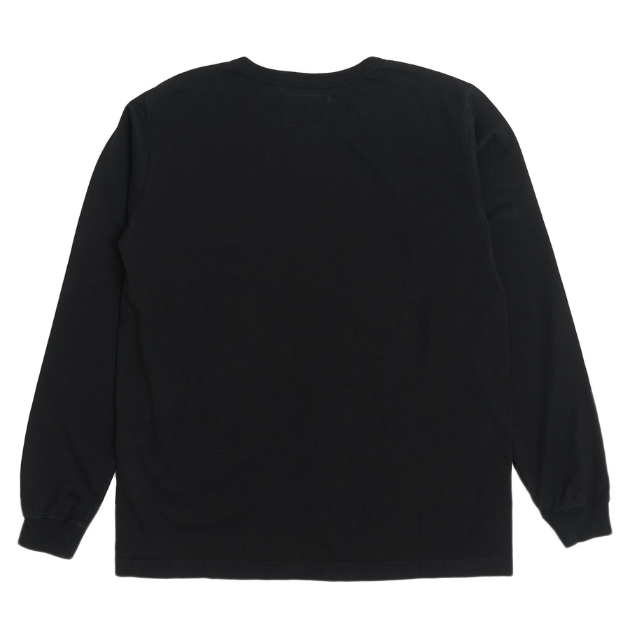 5805L-20 - Heavy Weight Long Sleeve Pocket T-Shirt - Black