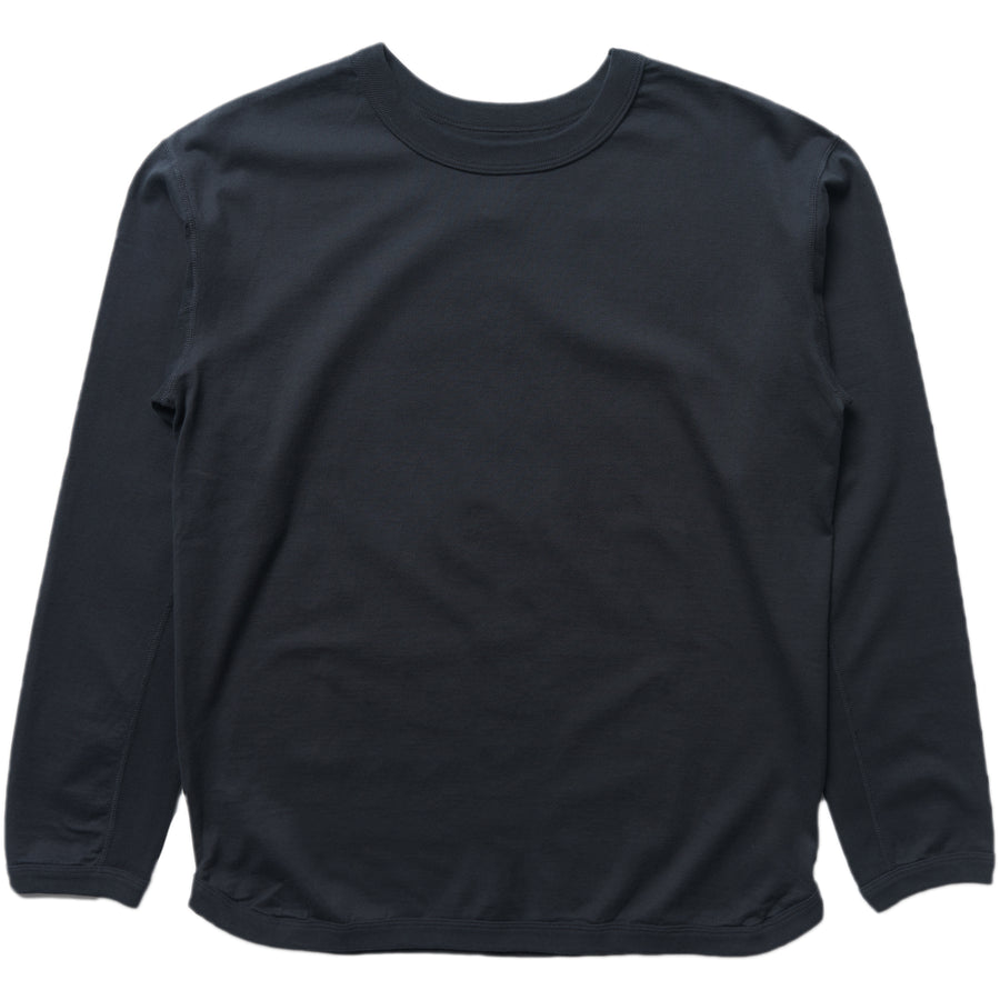 5222L-20 - Flat Seam Heavyweight Long Sleeve T-Shirt - Ink Black