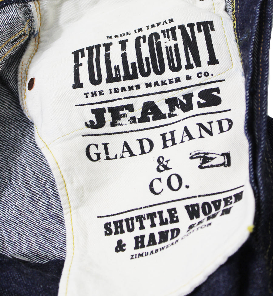 GH-0105 FULLCOUNT×GLAD HAND 0105 LOOSE STRAIGHT ONE WASH