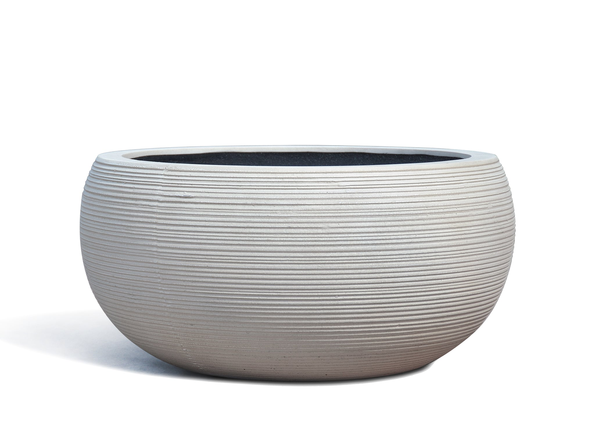 white low bowl planter