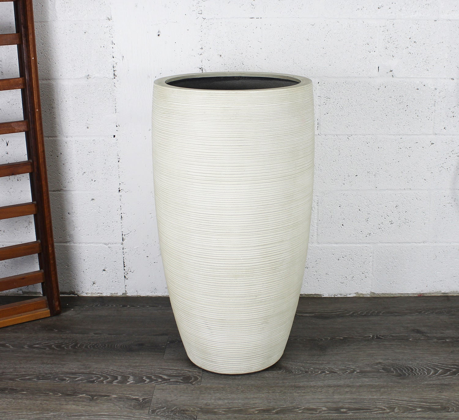 Textured Tall Conic Planter Pot