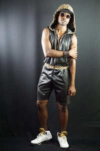 Custom faux leather romphim
