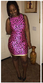 Pink kitty mini dress