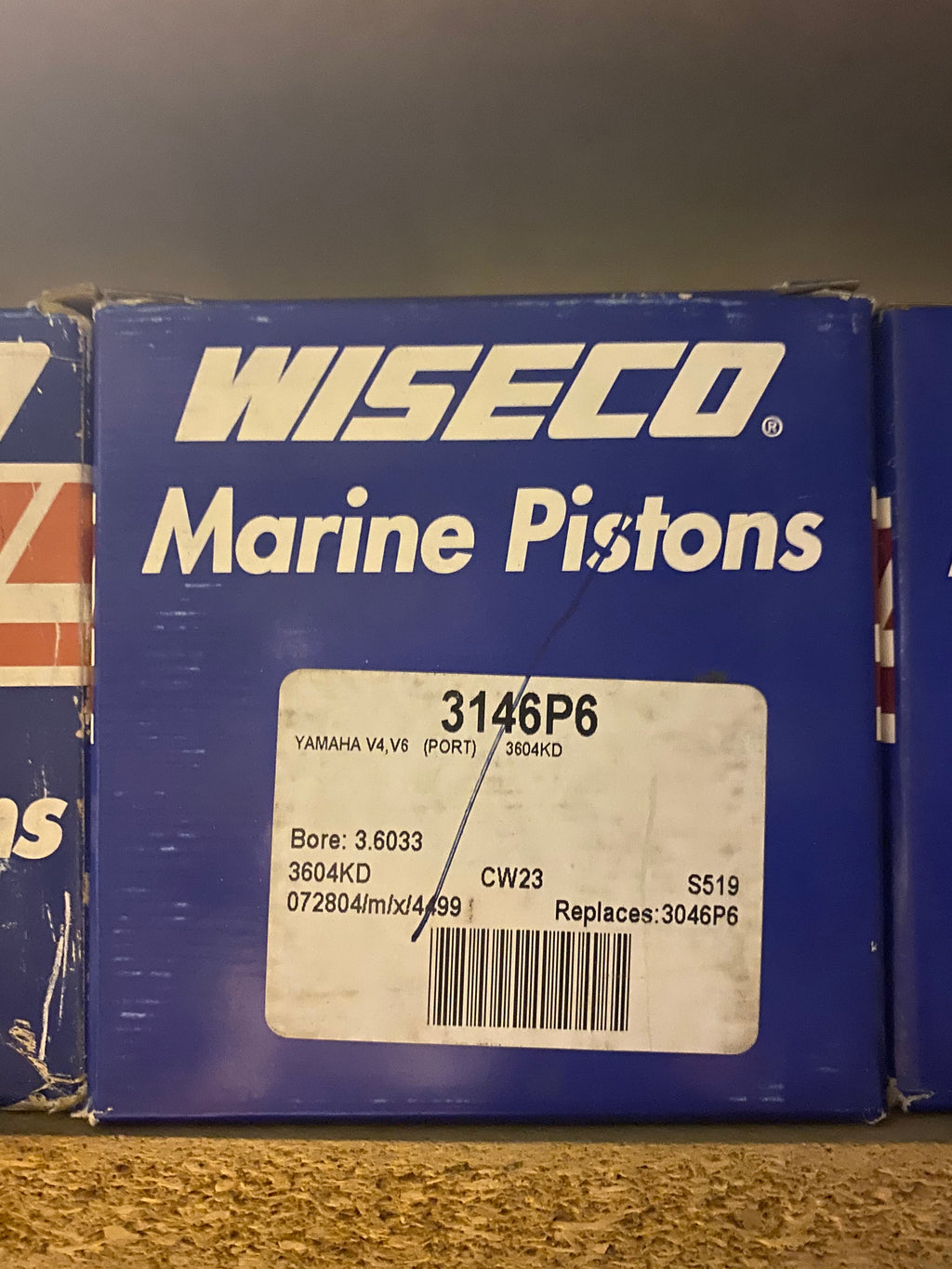 Wiseco Marine Piston Kit 3146P6 Yamaha V4, V6(PORT) 3604KD