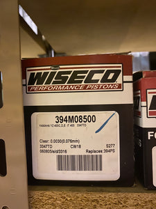 Wiseco Piston Kit 394M08500 Yamaha YZ 400C,D,E IT 400 3347TD
