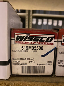 Wiseco Piston Kit 519M05500 Suzuki RM125 1985-86 2165CD