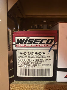 Wiseco Piston Kit 562M06625 Honda ATC,TRX250 1987-89 PRO-LITE 2608CD