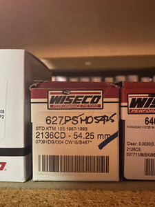 Wiseco Piston Kit 627M05425 STD. KTM 125 1987-93 2136CD