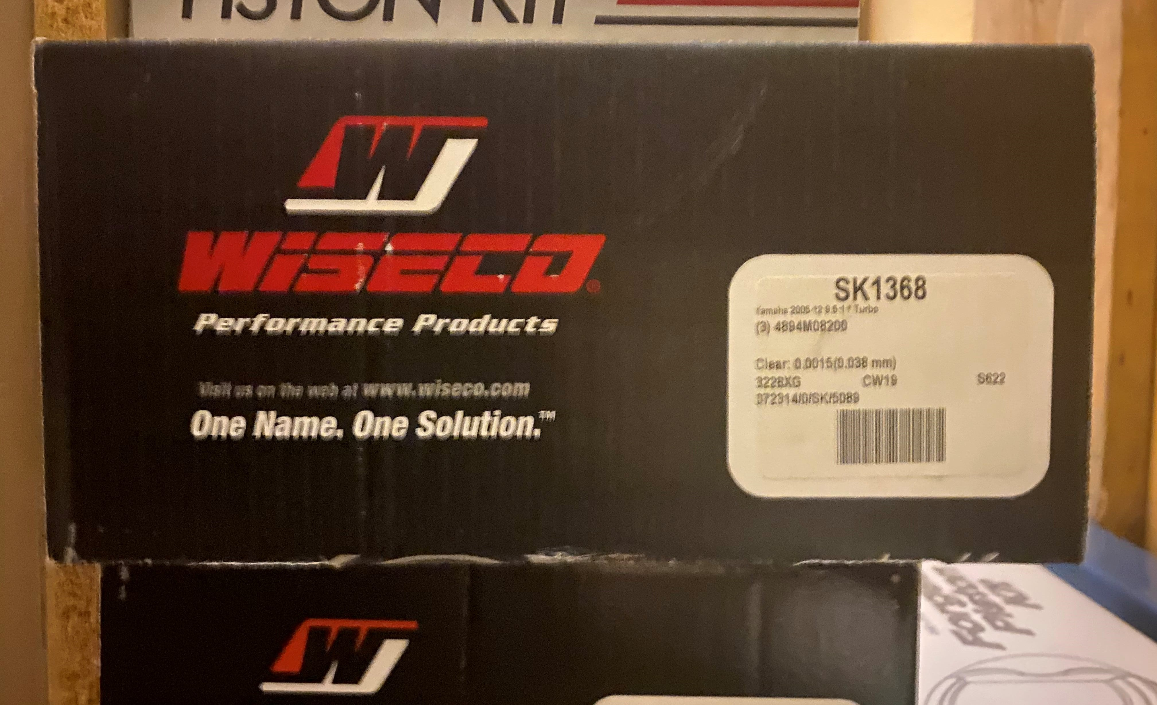 Wiseco Snowmobile Piston Kit SK1368 Yam Vector/Rage/Nytro 4894M08200