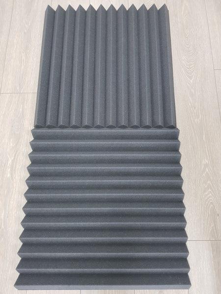 Acoustic Foam Wedge Tiles Pack of 10 x 50cm x 50cm x 5cm