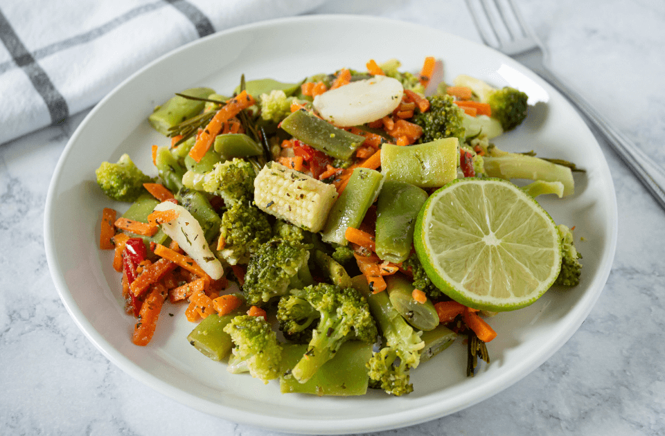 Steam Vegetable with Herb Butter Recipe