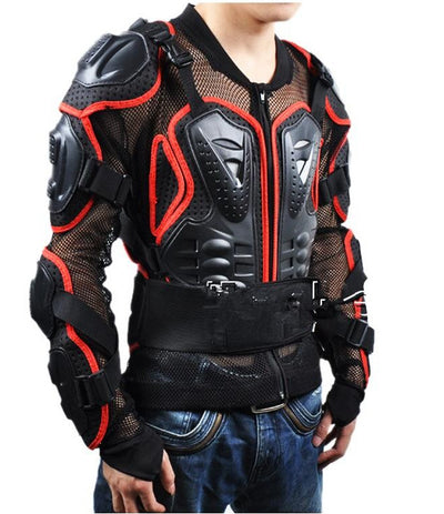 Motorcycle turtle jacket for men armor spine chest protective