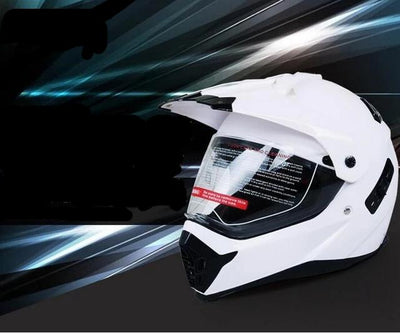 Atv motorcycle helmet double lens motocross racing helmets with sun shield best seller
