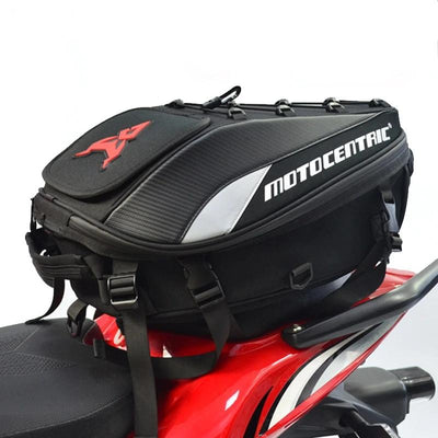 Motorcycle tail bag high capacity durable multi functional waterproof for rider