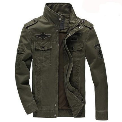 Military army jean jacket men air force one male clothing