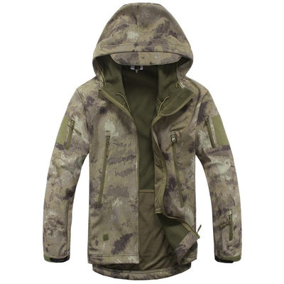 Army military tactical jacket hunt camouflage clothing windproof waterproof for men