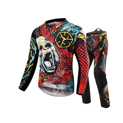 motocross clothing motorcycle MX racing jersey clothing + hip pads set dirt bike apparel