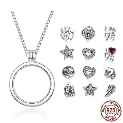 925 silver jewelry medium pendant necklaces petite charms for women