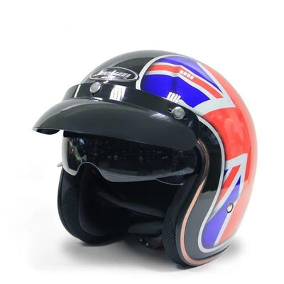 Scooter helmet retro vintage motorcycle helmets visor open face