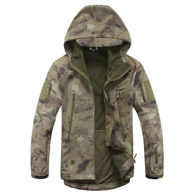 Army Military Tactical Jacket Men Camouflage Coat  Soft Shell Plus Size 4XL Raincoat